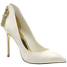Buy Ted Baker Tie the Knot Mieon Satin Court Shoes, Cream Online at johnlewis.com