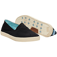 Buy TOMS Avalon Canvas Plimsolls, Black Online at johnlewis.com