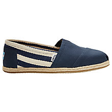 Buy TOMS Classic Rope Sole University Espadrilles, Navy Online at johnlewis.com