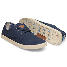 Buy TOMS Paseos Lace-Up Espadrilles, Navy Online at johnlewis.com