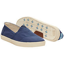 Buy TOMS Avalon Thick Sole Plimsolls, Dark Denim Online at johnlewis.com