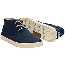 Buy TOMS Paseos Mid Boots, Navy Online at johnlewis.com