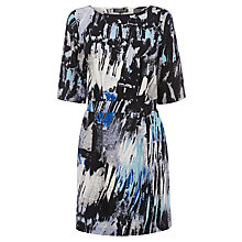 Buy Warehouse Pattern Paint Print Dress, Blue Pattern Online at johnlewis.com
