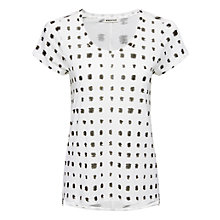 Buy Whistles Silk Hem T-Shirt, White Online at johnlewis.com