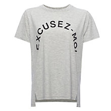 Buy Whistles Excusez-Moi T-Shirt, Grey Marl Online at johnlewis.com