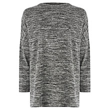 Buy Warehouse Space Dye High Neck Top, Light Grey Online at johnlewis.com