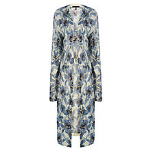 Buy Warehouse Long Floral Cardigan, Light Blue Online at johnlewis.com