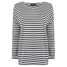 Buy Warehouse Stripe Drop Sleeve Top Online at johnlewis.com