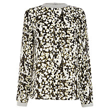 Buy Warehouse Printed Jersey Top, Multi Online at johnlewis.com