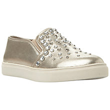 Buy Steve Madden Ellis Slip On Trainers, Silver Online at johnlewis.com
