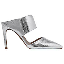 Buy Whistles Tilla Pointed Toe Mule Court Shoes, Pewter Online at johnlewis.com