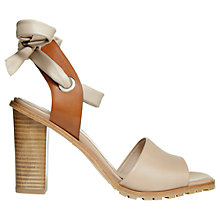Buy Whistles Thistle Block Heeled Sandals, Nude Leather Online at johnlewis.com