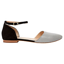 Buy Mint Velvet Cece Leather Sandals, Grey/Black Online at johnlewis.com