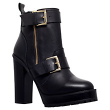 Buy KG by Kurt Geiger Stallion High Heel Leather Ankle Boots, Black Online at johnlewis.com