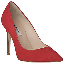 Buy L.K. Bennett Fern Stiletto Heeled Court Shoes, Salsa Red Suede Online at johnlewis.com