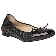 Buy L.K. Bennett Cheri Nappa Leather Ballerina Pumps, Black Online at johnlewis.com