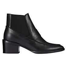 Buy Whistles Riley Leather Ankle Boots, Black Online at johnlewis.com