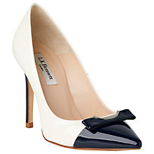 Buy L.K. Bennett Fran Leather Stiletto Court Shoes, Ivory Online at johnlewis.com