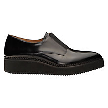 Buy Whistles Derris Leather Flatform Shoes, Black Online at johnlewis.com