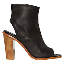 Buy Whistles Peep Toe Leather Shoe Boots Online at johnlewis.com