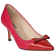 Buy L.K. Bennett Roxy Leather Stiletto Court Heels Online at johnlewis.com