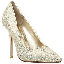 Buy Dune Bonni Pointed Court Shoes, Champagne Online at johnlewis.com