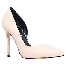 Buy Miss KG Abbie Asymmetric Toe Pointed Stiletto Court Shoes, Nude Online at johnlewis.com
