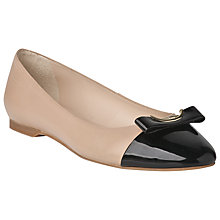 Buy L.K. Bennett Carys Leather Ballerina Pumps Online at johnlewis.com