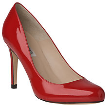 Buy L.K. Bennett Stila Leather Court Shoes, Salsa Red Patent Online at johnlewis.com