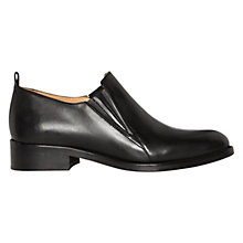 Buy Whistles Poplar Leather Low Block Heeled Brogues, Black Online at johnlewis.com