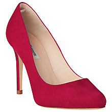 Buy L.K. Bennett Hazel Suede Stiletto Court Heels, Power Pink Online at johnlewis.com