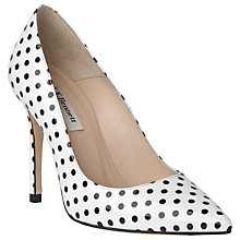 Buy L.K. Bennett Fern Stiletto Heeled Court Shoes, White/ Black Patent Online at johnlewis.com