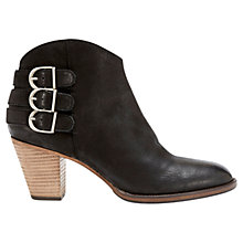 Buy Mint Velvet Stella Nubuck Ankle Boots, Black Online at johnlewis.com