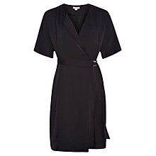 Buy Whistles Folded Wrap Dress, Black Online at johnlewis.com