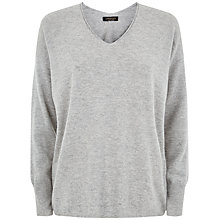 Buy Jaeger Melange Seam Detail Sweater, Light Grey Melange Online at johnlewis.com
