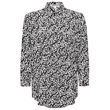 Buy Whistles Eggshell Print Longline Shirt, Black/Multi Online at johnlewis.com