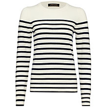 Buy Jaeger Cashmere Breton Sweater Online at johnlewis.com