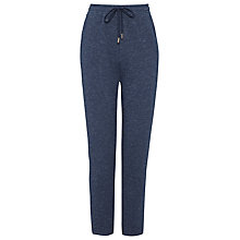 Buy Whistles Panelled Marl Jersey Jogger, Navy Online at johnlewis.com