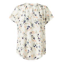Buy Jigsaw Bloom Print Silk Top, Multi Online at johnlewis.com