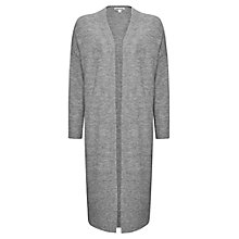 Buy Whistles Longline Chunky Knit Cardigan, Grey Marl Online at johnlewis.com