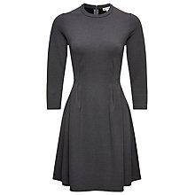 Buy Whistles Brie Long Sleeve Skater Dress, Dark Grey Online at johnlewis.com
