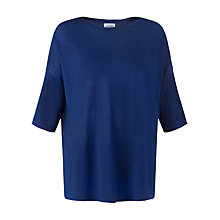 Buy Jigsaw Merino Boat Neck Sweater, Blue Online at johnlewis.com