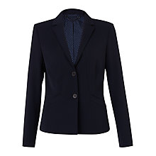 Buy Jigsaw Paris Fit Wool Blend Jacket, Navy Online at johnlewis.com