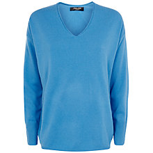 Buy Jaeger Cashmere Seam Detail Sweater, Regatta Online at johnlewis.com