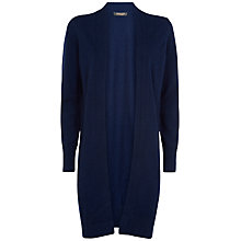 Buy Jaegar Cashmere Seam Detail Cardigan, Peacoat Online at johnlewis.com