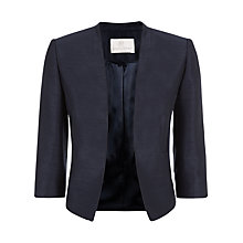Buy Jacques Vert Longline Edge to Edge Jacket, Navy Online at johnlewis.com