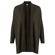 Buy Jigsaw Rice Stitch Blanket Cardigan, Dark Khaki Online at johnlewis.com