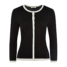 Buy Precis Petite Embellished Edge Cardigan, Multi Dark Online at johnlewis.com
