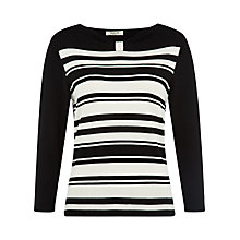 Buy Precis Petite Stripe Bardot Jumper, Multi Dark Online at johnlewis.com