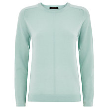 Buy Jaeger Cashmere Crew Neck Sweater, Icy Morn Online at johnlewis.com
